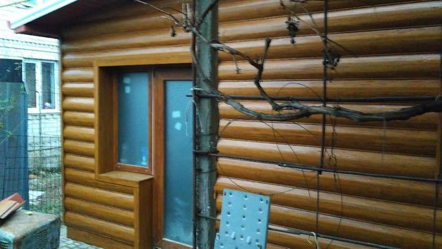 Металлический сайдинг блок хаус структурная сосна