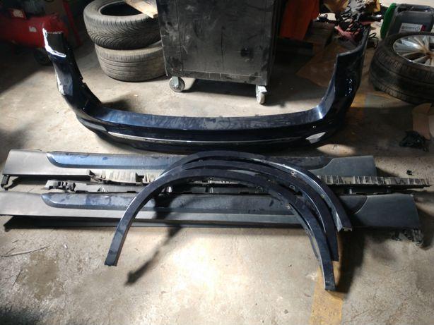 Бампер задний,  порог правый  накладки арок колес БМВ Х5 f15