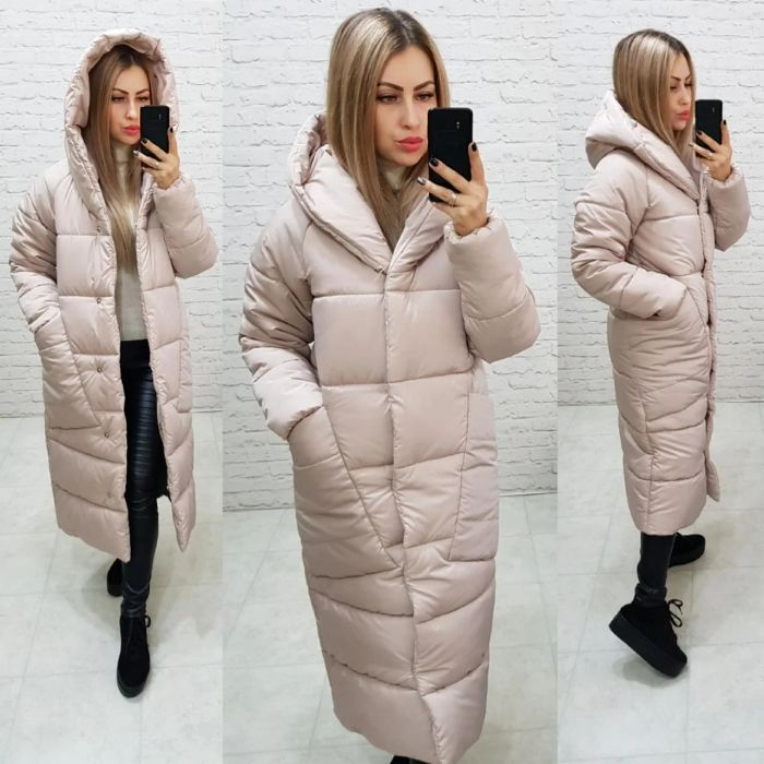 Длинная теплая зимняя куртка пальто пуховик / 8 цветов / Куртка пухов Киев - изображение 1
