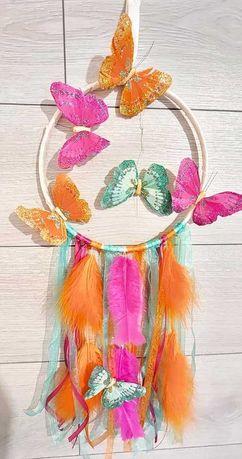 Caça-Sonhos borboletas colorido