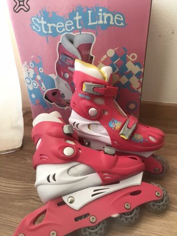 patins em linha (4 rodas)
