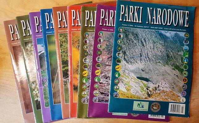 Czasopismo Parki Narodowe, 9 numerów, roczniki 2006 do 2008