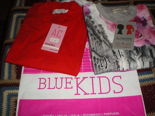 2 sweat-shirt, novas, c/ etiquetas Blue Kids.