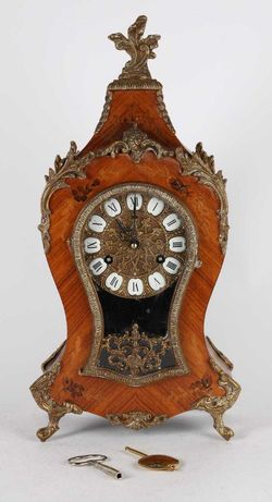 Zegar kominkowy typu Boulle wysokość 47 cm