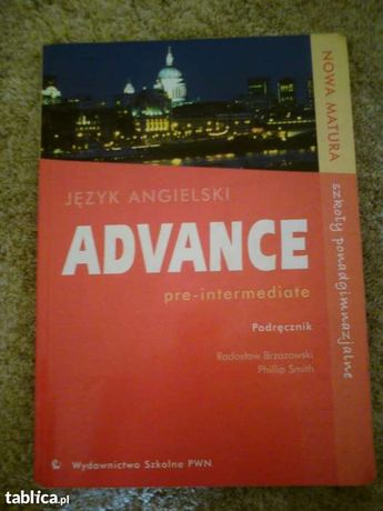 Podręcznik J.Angielski ADVANCE pre-intermediate !