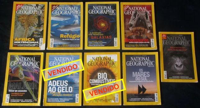Conjunto 7 Revistas National Geographic 2001 a 2008 (e venda ind.)