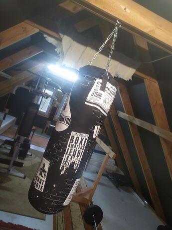 Worek bokserski, gruszka treningowa, 2x rękawice bokserskie