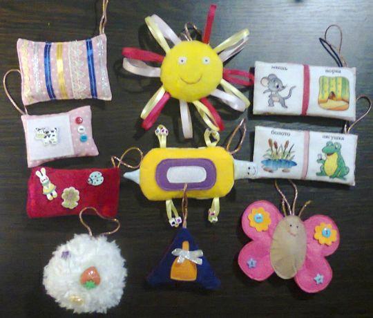 Сенсорно-звуковые мешочки для детей с 3-х месяцев (с чехольчиками)