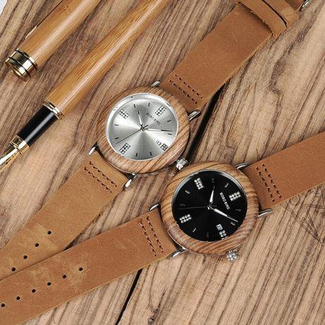 Relógio Bobo Bird, madeira, preto e brilhantes p/ senhora