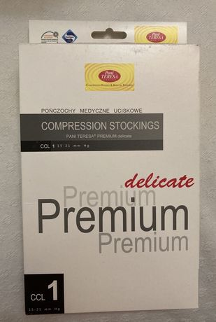 Женские компрессион. чулки Pani Teresa Premium Delicate 1 кл компресии