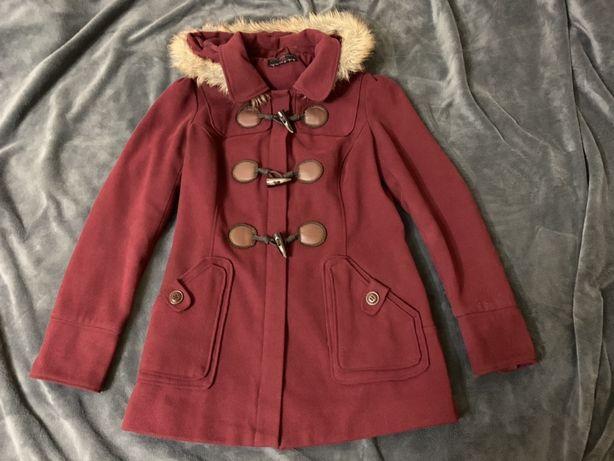 Пальто цвета марсала 12 размер {m-l} new look