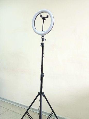 Штатив до 2,1м +лампа ргб кольцевая 26см Набор для блогера