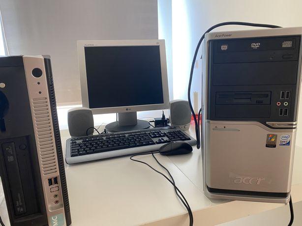 Computador Acer e ecra e outros