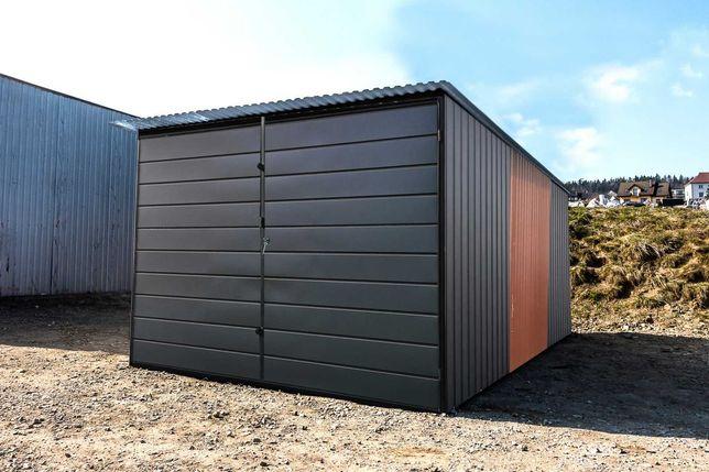 Garaż blaszany na budowę Blaszak 3x5 II gatunek TRANSTAL.COM