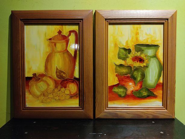 """""""Kuchenne""""- wspaniały komplet obrazów malowanych na szkle!"""