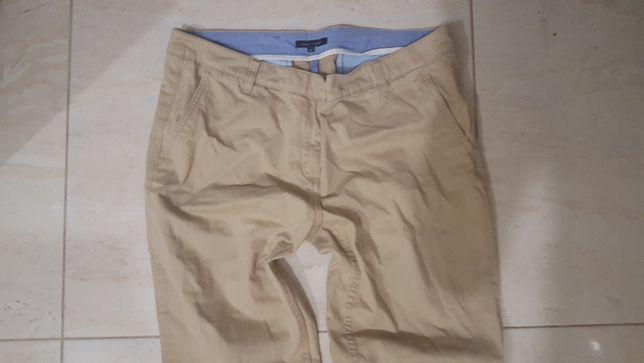 Spodnie Proste Cygaretki Eleganckie Typ Rome HILFIGER 12/ L