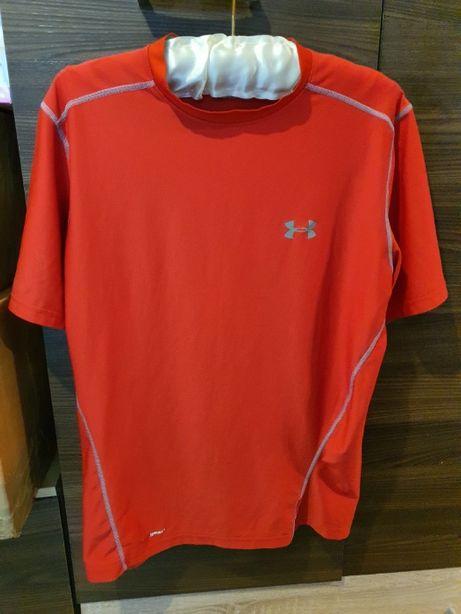 Czerwona Koszulka T Shirt Under Armour Męska ORYGINALNA Rozmiar L