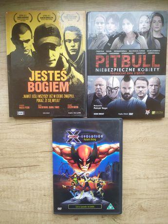 Zestaw trzech filmów DVD - X-Men: Evolution - Jesteś Bogiem - Pitbull