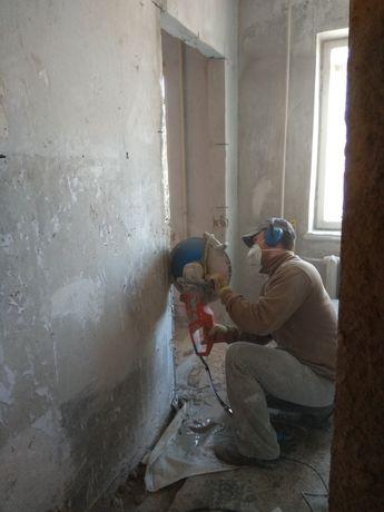 Алмазная резка бетона вырезать проем расширить дверь Демонтаж