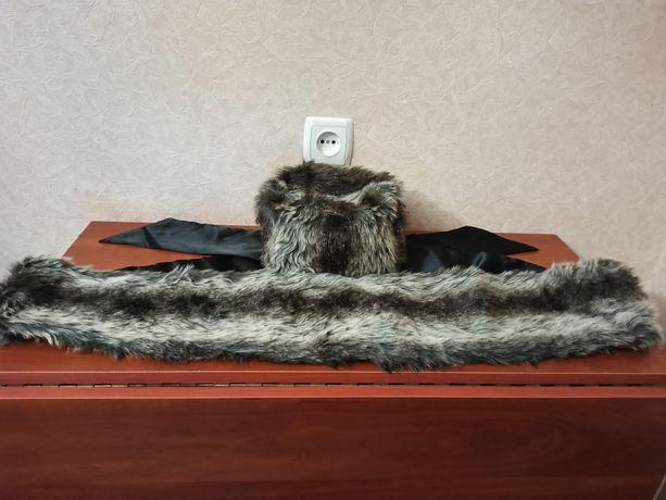 Шарф і шапка з штучного хутра