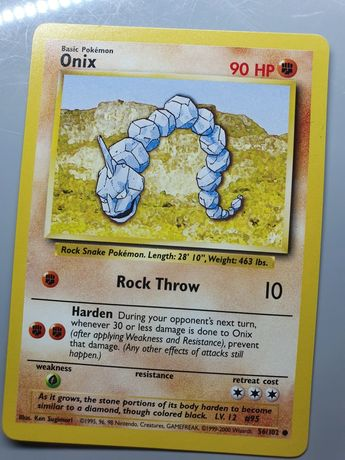 56/102 Onix - Base Set Pokemon
