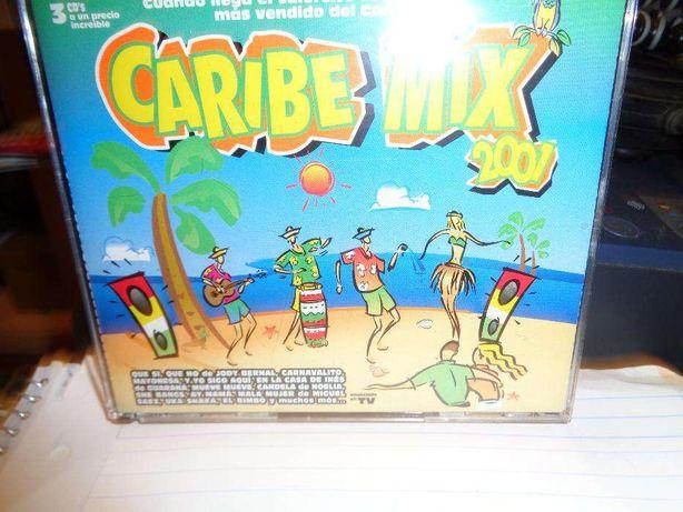 3 CD´S Caribe Mix 2001 música para abanar o capacete em caixa