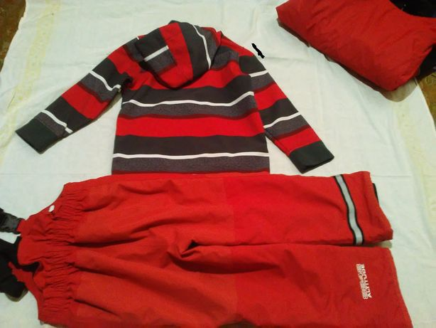 spodnie narciarskie/kombinezon 120; kurtka/bluza softshell 128 od 65zł