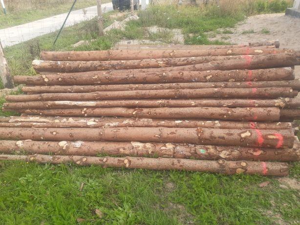 100 szt stemple budowlane 290 cm drewniane