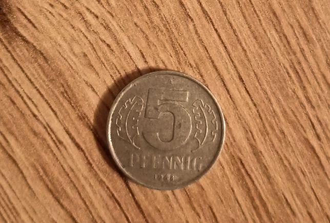 Sprzedam monetę 5 pfenning 1968 rok