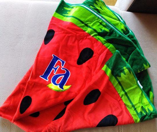 Sprzedam ręcznik plażowy - arbuz z logo FA NOWY, bardzo gruby
