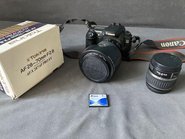 Aparat Canon EOS 20D + dwa obiektywy + karta 8gb + filtr Hoya UV
