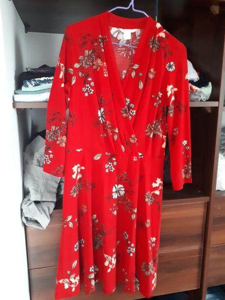 Sukienka ciażowa h&m mama s czerwona dla karmiacej