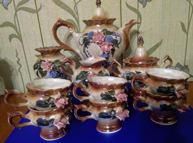 Чайно-кофейный сервиз с розой 10ед.