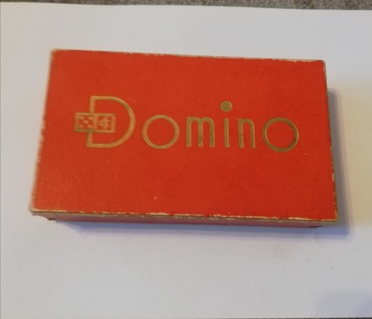 Domino stare niemieckie drewniane czarne vintage klocki gra