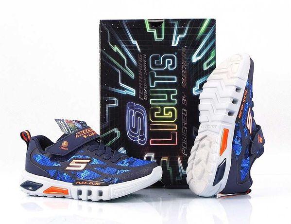 SKECHERS Rondler NOWE Sneakersy Buty DZIECIĘCE Młodzieżowe LED 32/20CM