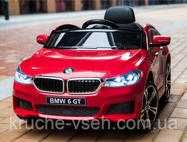 Детский электромобиль Джип JJ 2164, BMW 6 GT, кожа, EVA, лицензия