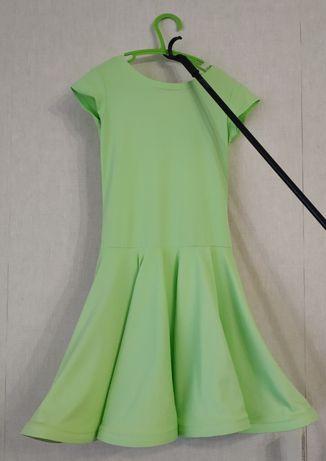Платье для бальных танцев , детское. Basic салатовое