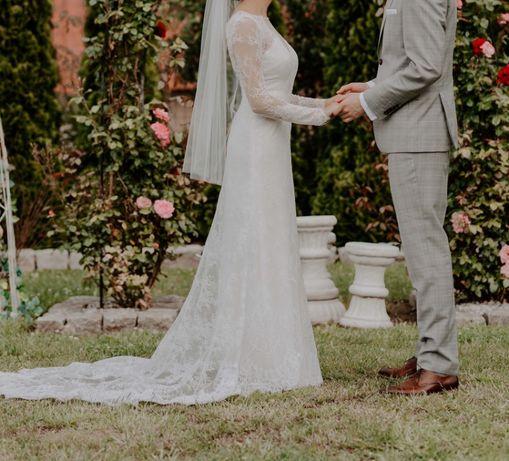 Suknia ślubna OKAZJA bardzo szczęśliwa