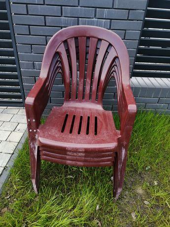 Krzesła ogrodowe. Krzesło ogrodowe 4 sztuki plastikowe