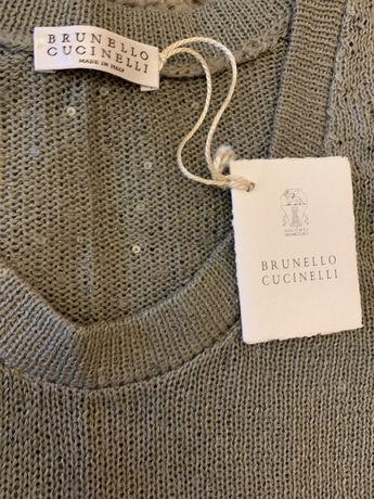 Жилет, джемпер Brunello Cucinelli, новый
