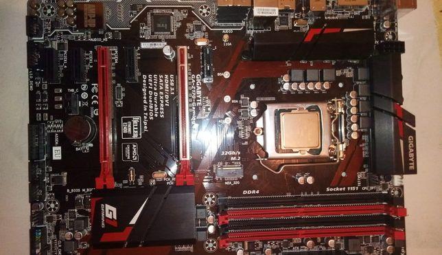 материнка  Gigabyte GA Z170 gaming k3 процессор i7 k6700k