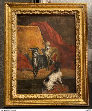 Винтажная картина 19 века Франция