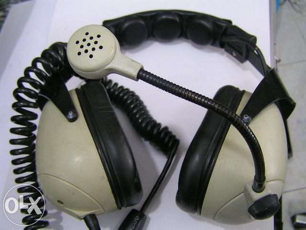 Auscultadores headphones com micro para aviao ou helicoptero