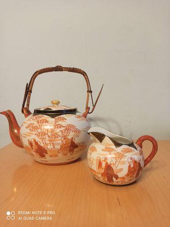Dzbanek i mlecznik z chińskiej porcelany