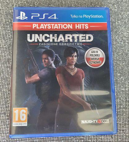 Gra Uncharted Zaginione Dziedzictwo PL 5 część Ps4 PlayStation 4