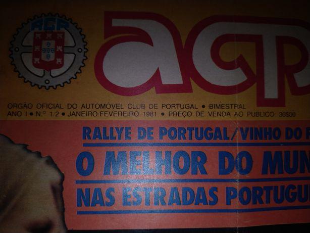 Revista ACP e revistas de automóveis Antigas e raras e Cartas.