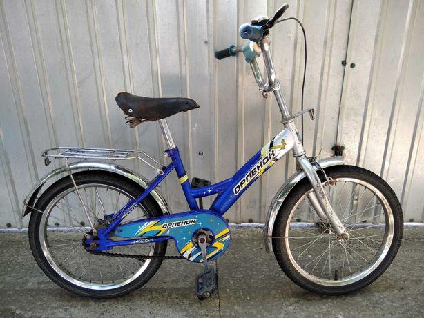 Детский велосипед Орлёнок, колëса на 18д., от 4 до 9 лет.