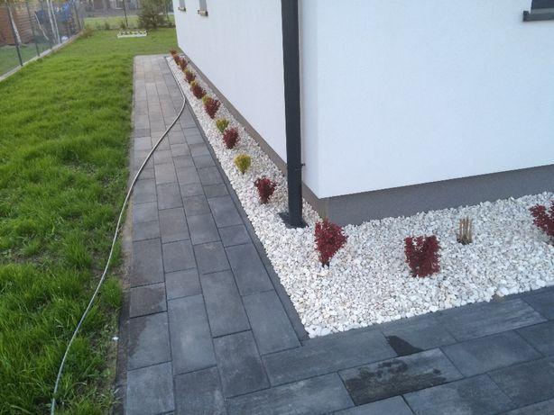 Biały grys dekoracyjny kamień kruszywo ogrodowe dostawa