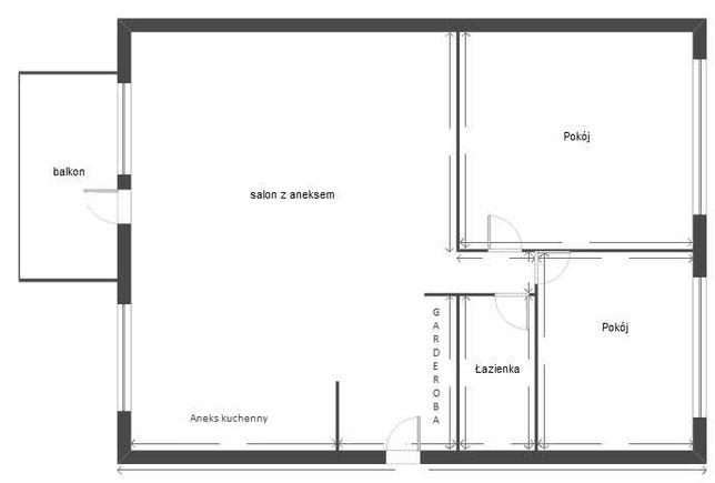 Piastów Śląskich 1, 1 piętro, balkon, 46m2, 3 pokoje, do remontu