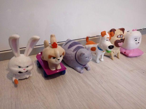 Zestaw plastikowe zabawki Sekretne życue zwierzaków domowych 6 szt